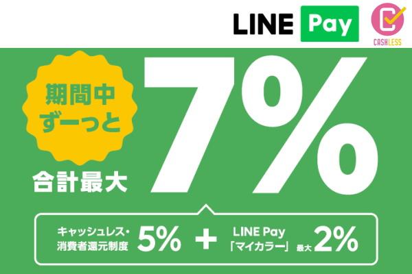 「LINE Payオンライン決済」も「キャッシュレス・消費者還元事業」